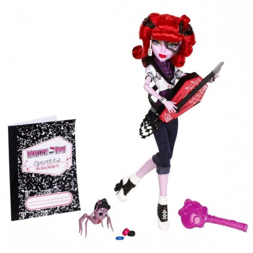 Purple Skin And Red Hair Make A Great Look For A Monster High Doll Like Operetta!