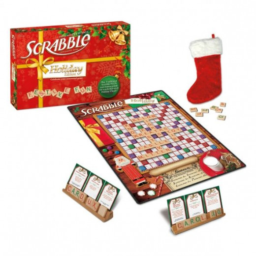 Christmas Scrabble - Have Some Spelling Fun This Holiday Season!  Can you spell fun?  You can now with this great spelling game.  Scrabble is one of my very favorite games and I play it all the time, and it will become your family's favorite holiday
