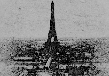 I put this public domain photo from the 1800s through a filter to make look like a drawing.