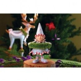 Patience Brewster's Krinkles Collection Includes This Little Wreath Elf Here To Help Dasher.