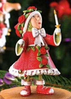 Donna's Elf Ornament Is The Light Elf From Patience Brewster's Krinkles Collection