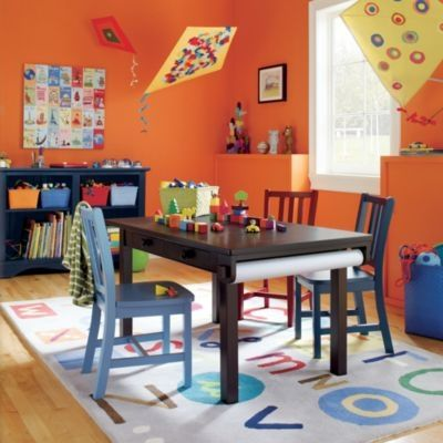 An alphabet rug with a variety of colors gives you lots of options.