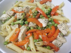 Penne Pasta with Chicken and Veggies