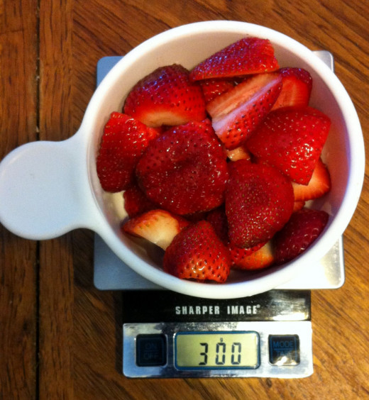 Strawberries:  3 grams are 1 calorie, making a 300-gram bowl perfect for a 100-calorie snack!