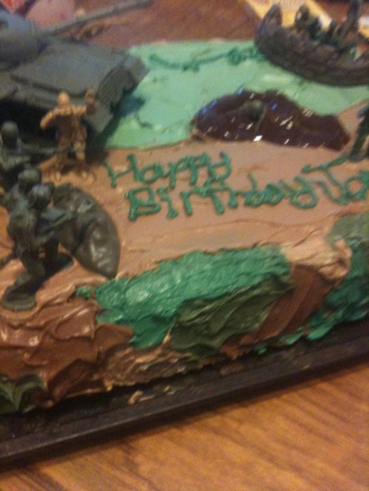 A fun concept in camouflage, designed for her youngest brother's birthday!