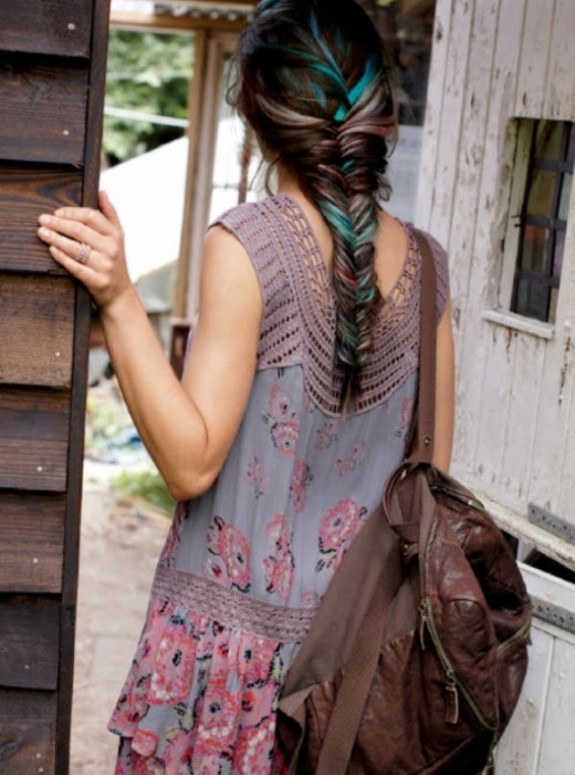 Add a little color to your Boho Braid.  Photo: FreePeople.com
