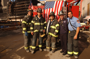 Firefighters at the World Trade Center.Photo by Andrea Booher/ FEMA News Photo