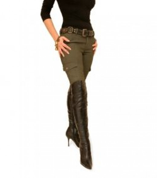 Skinny Combat Cargo Stretchy Pants