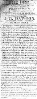 Actual Story in The Bee - April 11, 1834