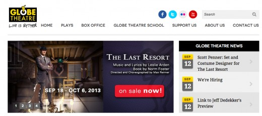 Globe Theatre Website
