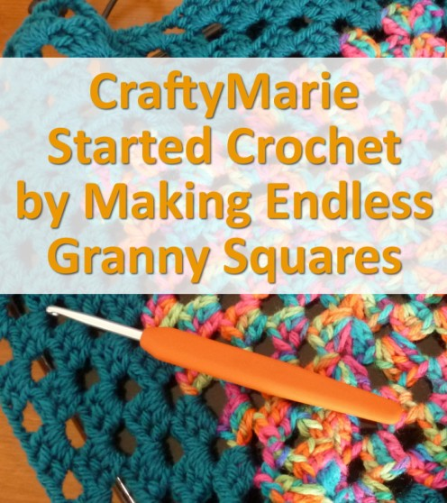 Granny squares are good for people new to crochet and you can make lots of things with them from cushion cases to blankets