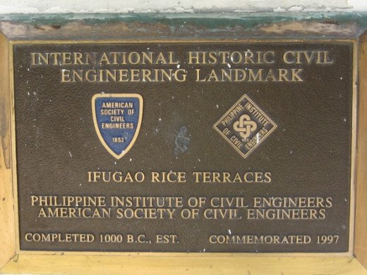 Plaque for Banaue Rice Terraces