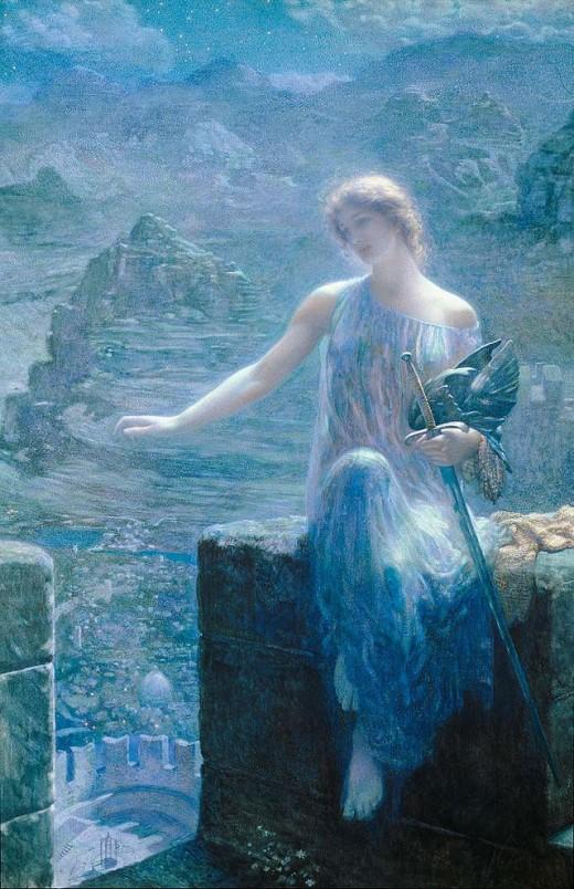 The Valkyrie's Vigil by Edward Robert Hughes