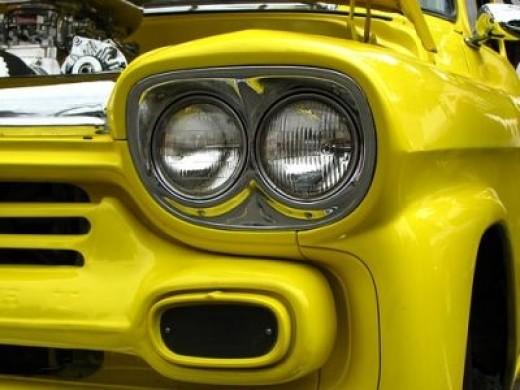 Fine Old Yellow Truck Design