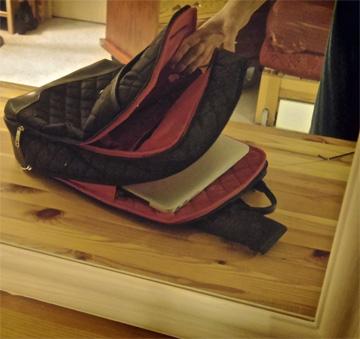 My Laptop Backpack is Slim & Roomy Too