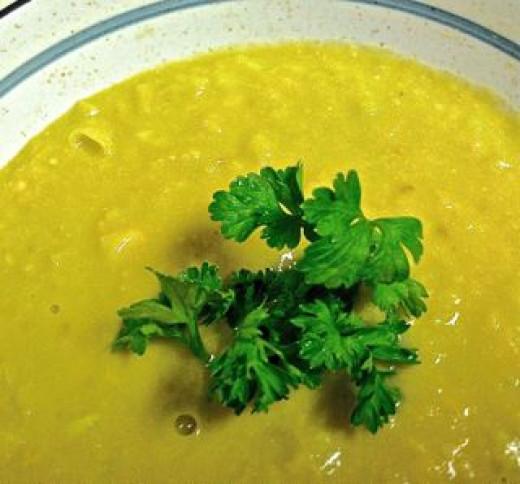 Creamy Avocado Corn Soup