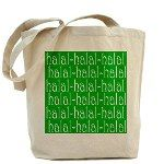Halal Tees Tote Bag with Green Design