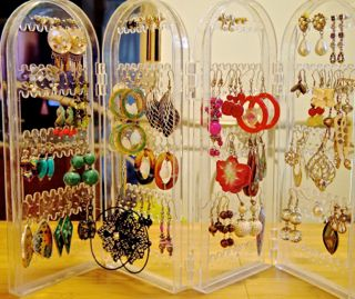 my rack with my earrings