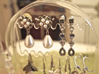 closeup grandma's earrings