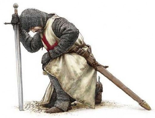 Templar Kneeling.