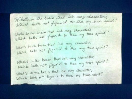 My Personal Handwriting Samples
