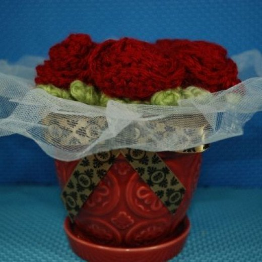 The Completed Pot of Roses