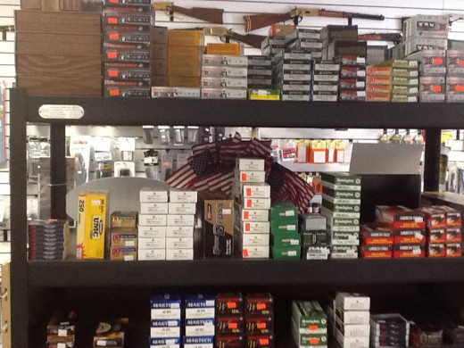 Ammo display picture courtesy of Battlefield Firearms located in Locust Grove, Virginia