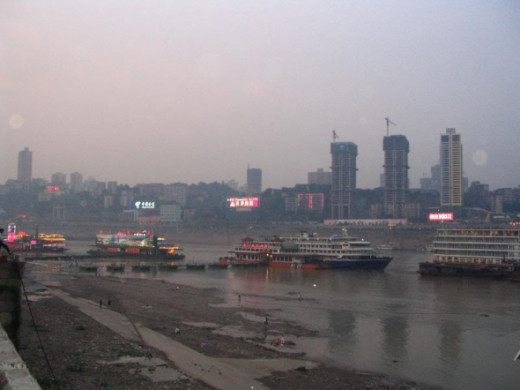 "Another photo of the Yangtze River. Robert Pittman quotes in the documentary Wake of the Baiji; ""It's probably the worst air quality I have seen anywhere..."""