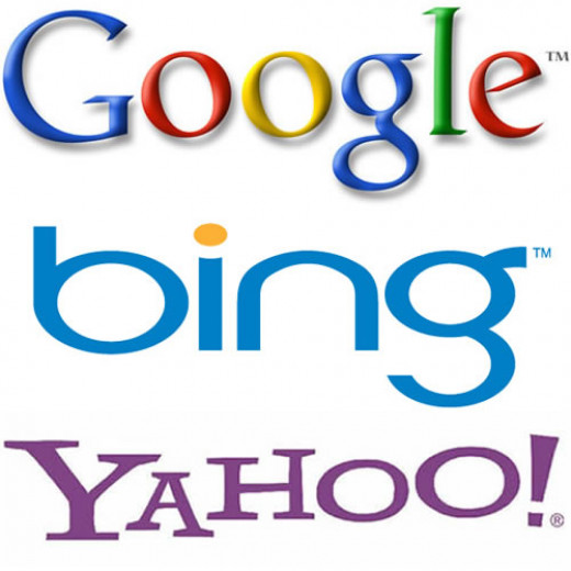 Three search engines - Google, Bing and Yahoo