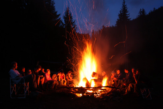 Stories around the campfire.
