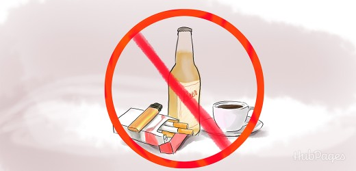 Avoid alcohol and stimulants