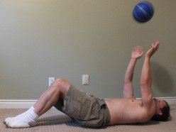 Medicine Ball Workout. Bodyweight, Cardio, Jumping & Throwing Exercises.