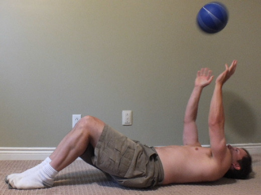Medicine ball chest throws.