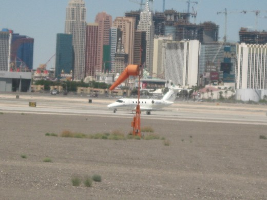 Wind sock at Las Vegas Airport provides pilots with last minute info on wind for take off