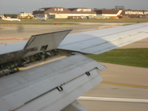Flaps up to slow down at Cleveland Airport