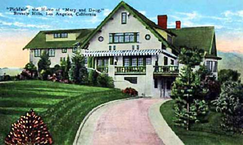 vintage postcard of Pickfair