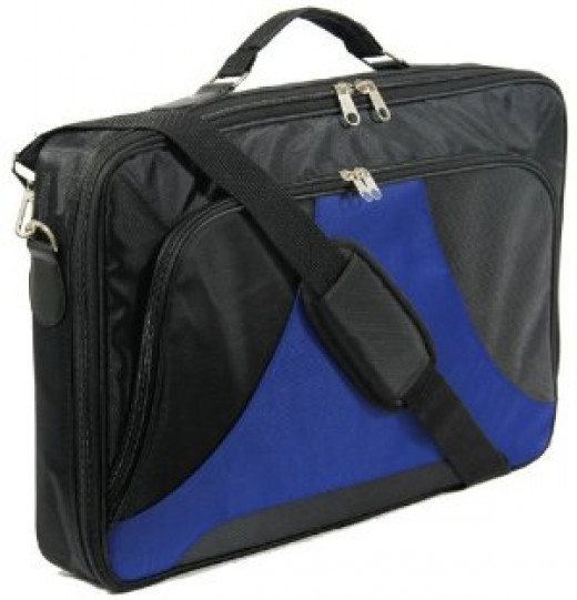 """Lotsaveoutlet 18"""" 18.4"""" 18 18.4 Inch Laptop Notebook Carrying Messenger Bag Case Briefcase Black Blue Color for Apple Hp IBM Dell Acer Alienware Sony"""