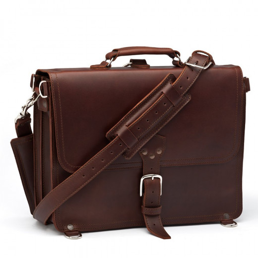Saddleback Leather Large Thin Briefcase in Chestnut: Full-Grain Leather