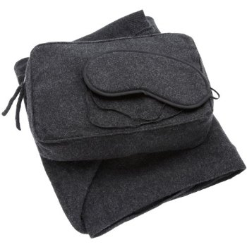 Sofia Cashmere Women's Cozy Travel Set (Charcoal)
