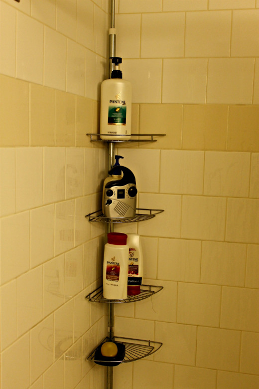 My Shower Caddy & Clock Radio