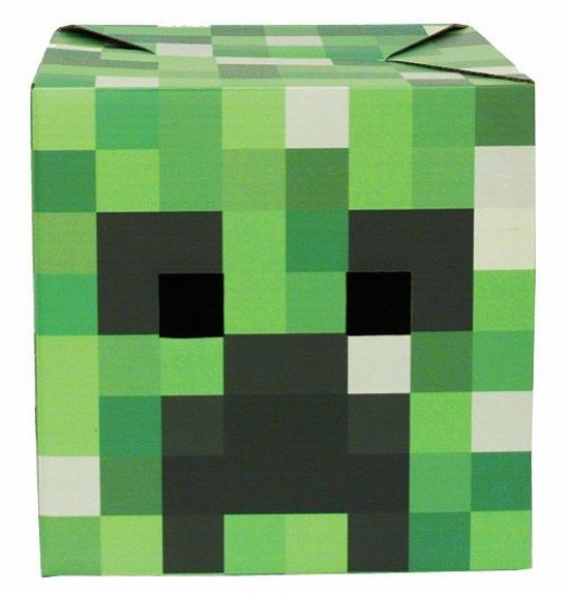 Mine craft mask paper craft kit