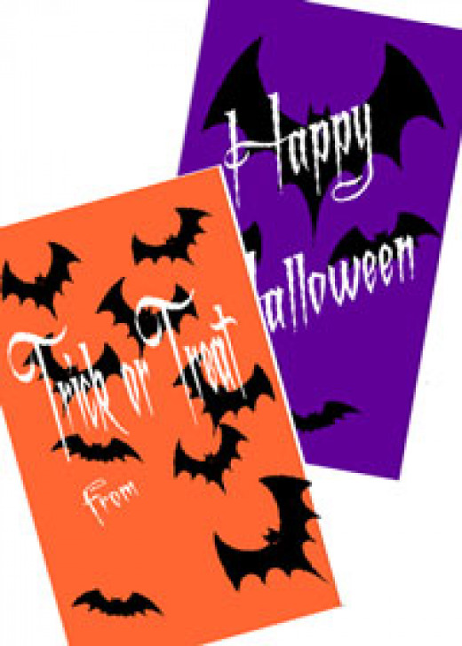 Print and cut Halloween favor bags