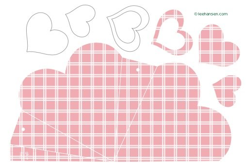 Printable heart shaped gift box template