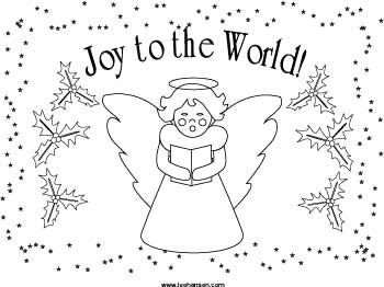 Christmas Angel Placemat Craft Printable