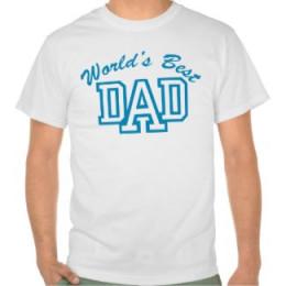World's Best Dad Tee Shirt Design