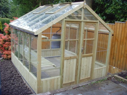 Wooden 8ft Wide Greenhouse