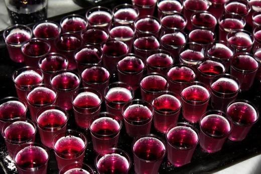 Rasberry Jello Shots