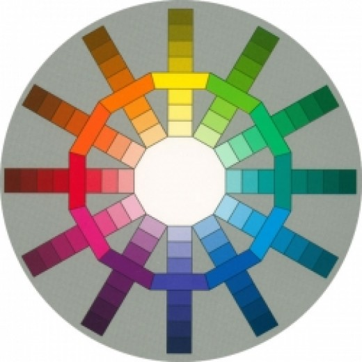 Color Wheel showing hues and tints