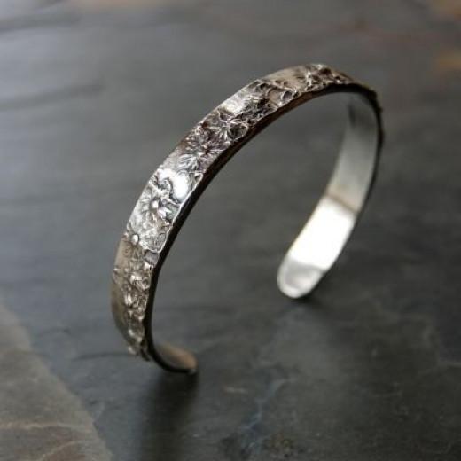 Asters Mid-Winter Cuff Bracelet