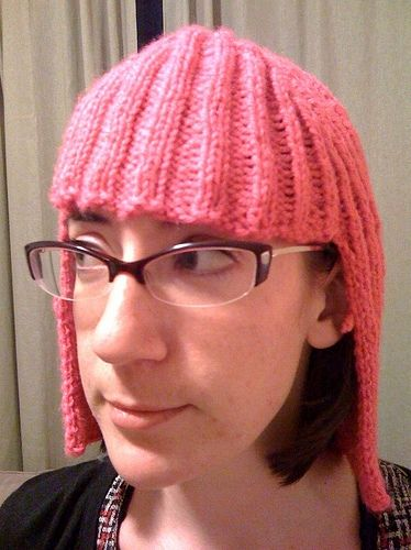 Pink Wig Knitted, a bit Katy Perryish